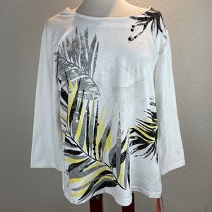 NWT Hearts of Palm Tropical Fiesta Top Size L